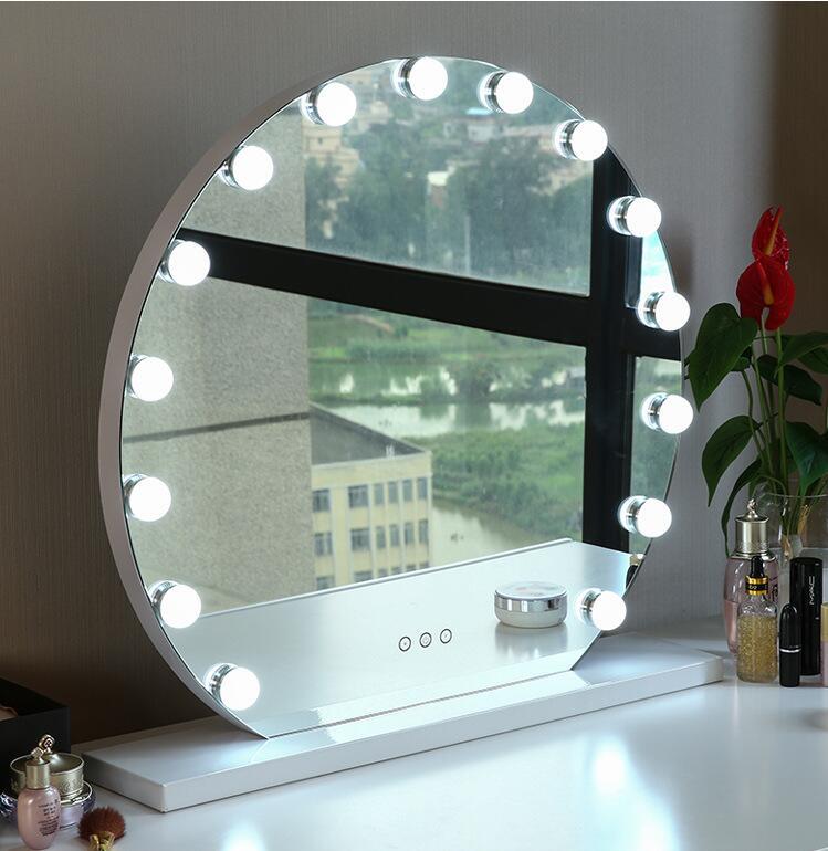Hollywood led แต่งหน้ากระจกโต๊ะเครื่องแป้งเดสก์ท็อป hollywood แต่งหน้ากระจกโต๊ะ make up กระจกหลอดไฟ