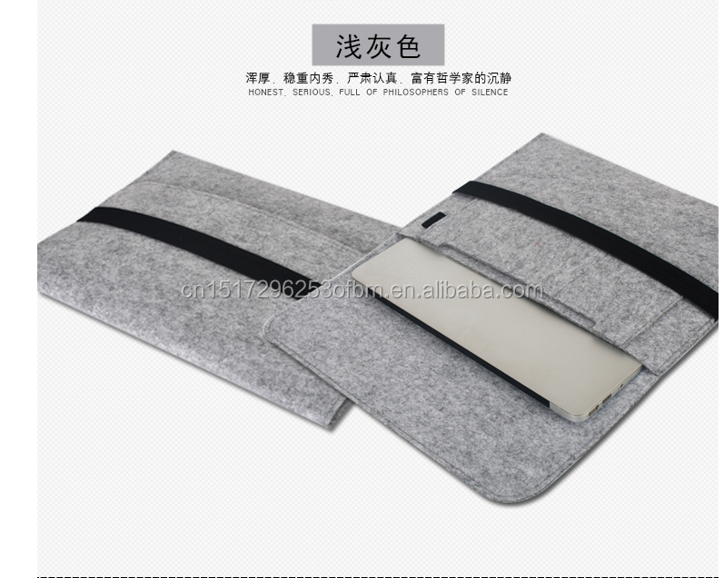 popular design Eco-freidly Felt Tablet Sleeve/tablet PC Bag For Ipad Air