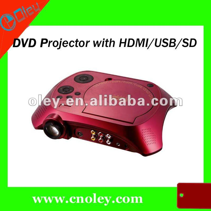 mini short throw projector with DVD/USB/SD/TV