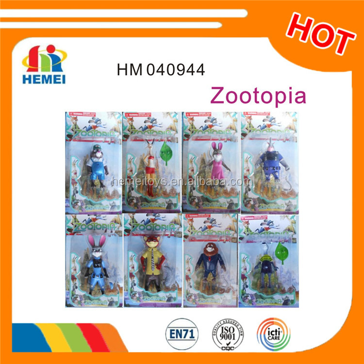 New arrivals zootopia action figures toys 4-6inch