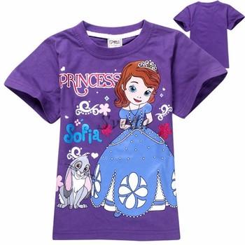 Venta Al Por Mayor Camisetas De Dibujos Animados Princesa Sofía Camiseta Para Niñas Camisetas De Algodón Precio Barato Buy Camisetas De Dibujos
