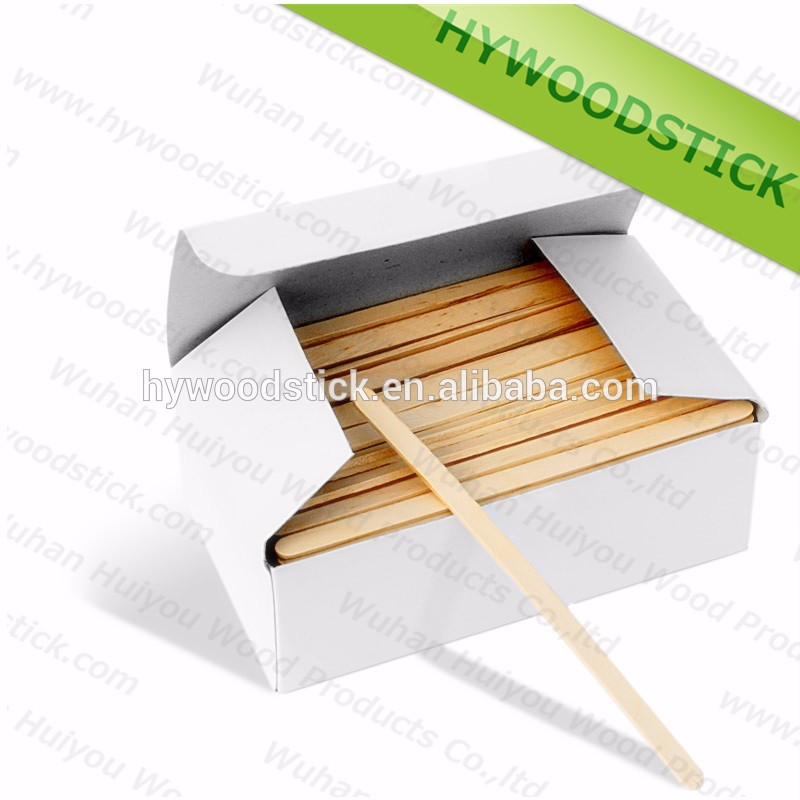 Disposable Paper wrapped 110mm Birch Wooden Coffee Stick