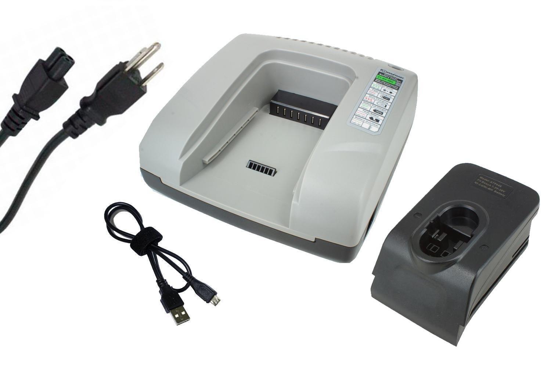 PowerSmart Charger for BOSCH GDR50, GDS 14.4 V, GDS 18 V, GDS 18 V-HT, GHO 14.4 V, GHO 14.4VH, GHO 18 V, GKG 24 V, GKS 18 V, GKS 24 V, GLI 12 V, GLI 12V, GLI 12V (Flash light) (Grey)