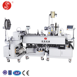 brass terminal making machine, flat stripping machine, electrical cable wire peeling machine HS-61216-C
