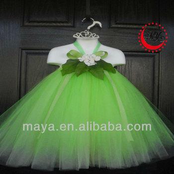 Princess Tiana Inspired Double Layered Green Fairy Kids Tutu Dress
