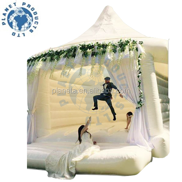 High Quality Inflatable Wedding Bouncy House Tent, White Inflatable Bouncy Castle For Wedding Party