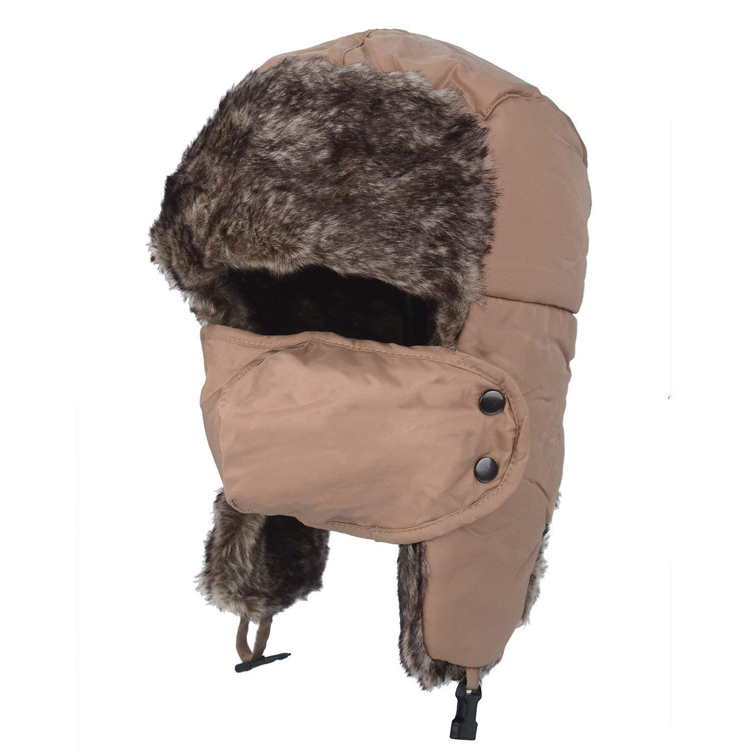 626571ec38979 Get Quotations · F Flammi Winter Trooper Trapper Hat Ushanka Hat Russian  Style Hunting Hat with Earflaps