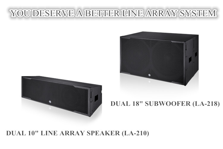 Dual 10 inch active line array speaker with neodymium HF Driver 2400w subwoofer for outdoor show Morin LA-210