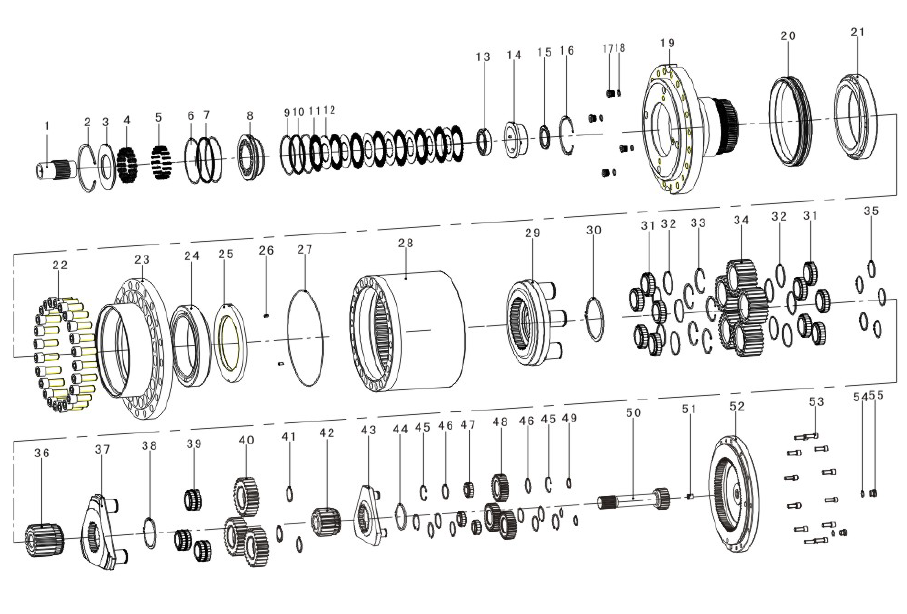 parker hydraulic pump parts