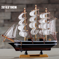 small decorative craft wooden sailboat model