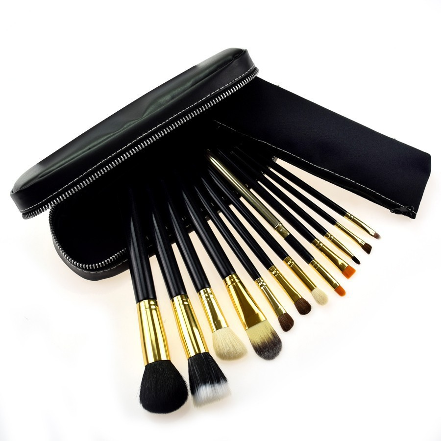 Get Quotations · Brand Professional 1 Set 12 Pcs Make Up Brushes Makeup Set Cosmetic Powder Brush Kits Pinceis