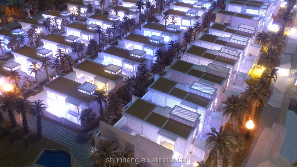 Top Quality Sanya Resort Villa Architectural Model With Multimedia Systerm
