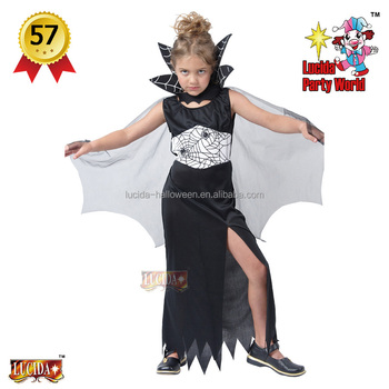 lucida china factory top selling girls black widow halloween costumes