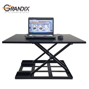 corner vertical multi user computer desk with height adjustable and keyboard tray