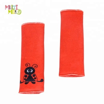 Red Infant Car Seat Strap Covers Baby Belt Stroller Accessories