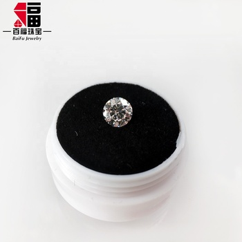 1 carat Loose white round brilliant cut DEF color IF Polished lab grown synthetic HPHT & CVD diamond