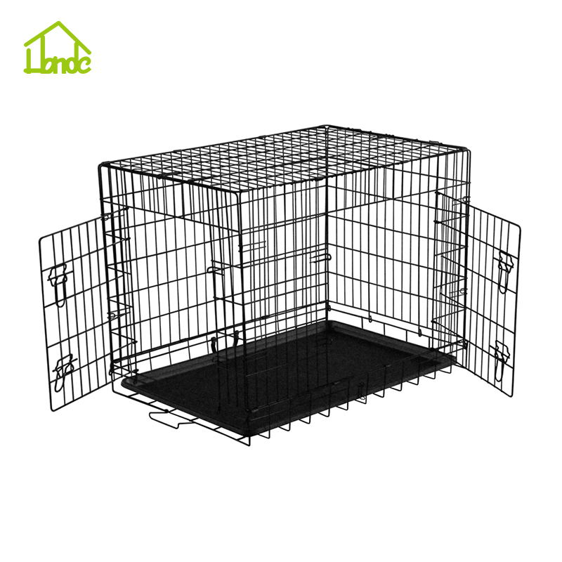China wholesale high quality folding two door animal cage