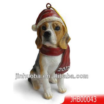 polyresin beagle dog christmas decoration - Christmas Beagle