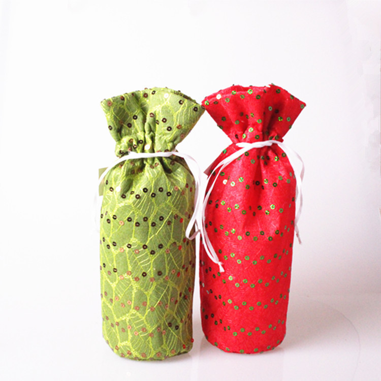 Sequin Wine Bottle Covers For Christmas