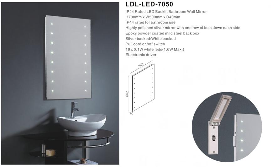 Saa Ce Ip44 Mirror Round Shape Illuminated Bathroom With Demister ...
