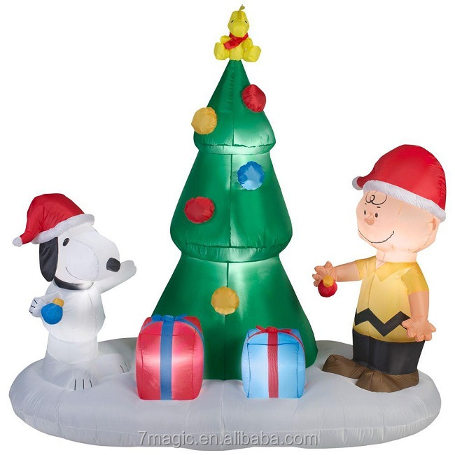 peanuts charlie brown snoopy tree christmas airblown inflatable buy large christmas inflatableschristmas inflatablechristmas decoration inflatable
