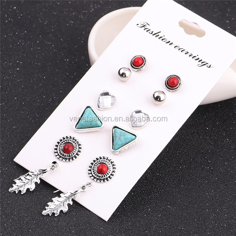 fancy stud earring korean stud earrings earring set stud