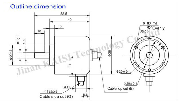 ks38a-200bm-g5-24f push-pull incremental rotary encoder