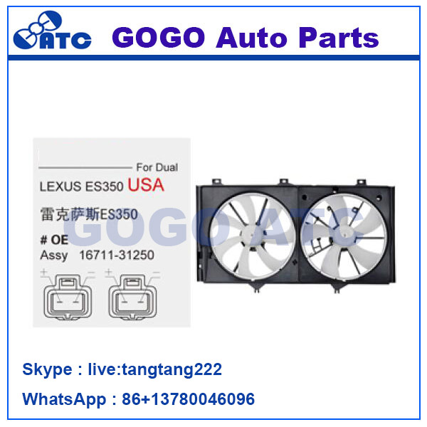 Radiator A/C Cooling Fan for Lexus Es350 07-11 Toy ota Camry OEM 16711-31250 16361-31130