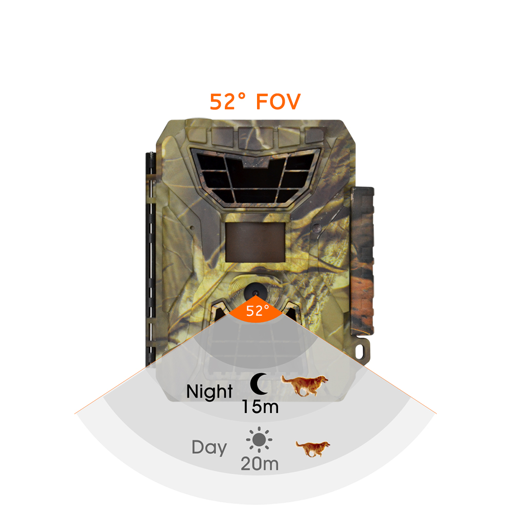 24MP no glow night vision camouflage trail hunting camera