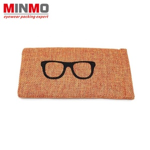 Wholesale squeeze microfiber pouch for sunglasses, eco-friendly sun glasses pouch