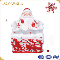 High Quality Christmas Ceramic Santa Cookie/Candy Jar,Ceramic Food Container with Lids