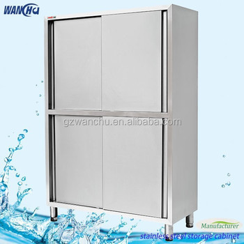 Stainless steel kitchen tall cabinet office furniture laboratory stainless steel tall storage for Tall stainless steel bathroom cabinet
