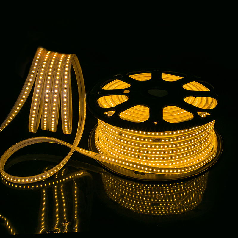 outdoor decorative colorful 5050 smd ip65 waterproof RGB flex led strip 220v 60leds 50m/roll