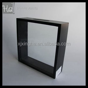 Money Saving Box with double glass