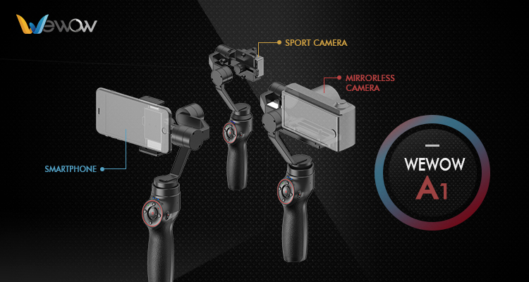 Mirrorless camera stabilizer gimbal new products handheld 3 axis with dedicated APP