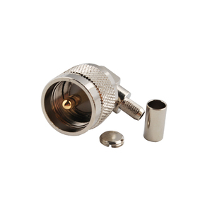 UHF Crimp Plug Right angle coaxial connector for LMR195 RG58
