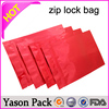 Yason plastic zipper gift bags zip lock pouch waterproof dark color ziplock bags for medical use