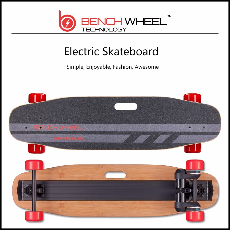Benchwheel 4 Wheels electric skateboard Dual Motors electric longboard With Romote control