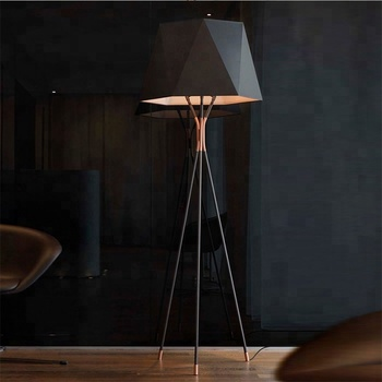 Simple Designer Tripod Floor Lamp Home Goods Showroom Standing Lamps Floor  Led
