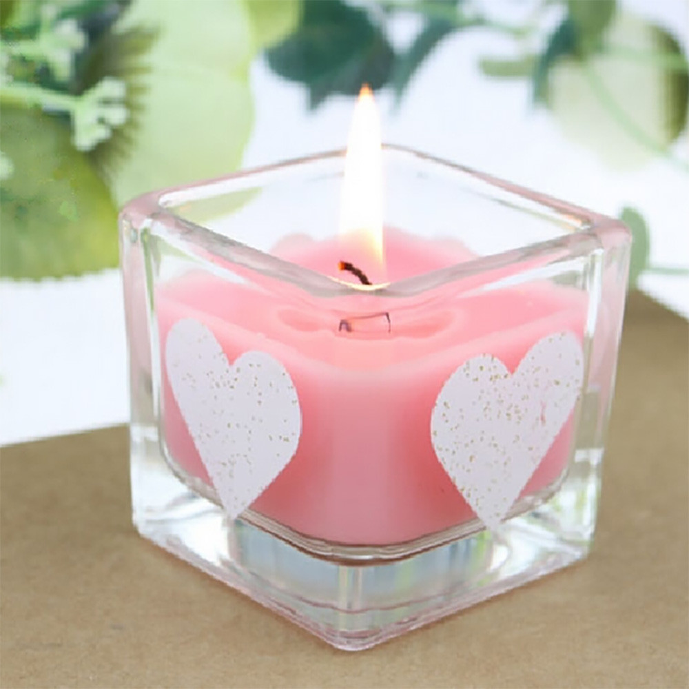 Natural Soy Wax Candle Aroma Candle Glass Jar Wholesale Square ...