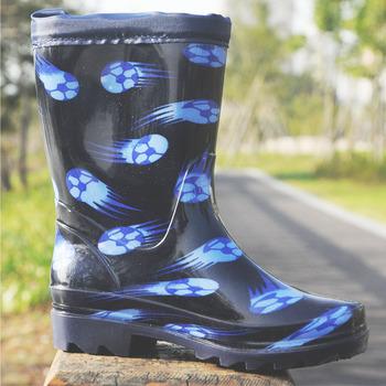 Bottes En Cristal Élastique Pluie Imperméable Pied Pvc Imprimée Enfant Bande Clair Boule De Chaussures Pluvieuses CoWdxBre