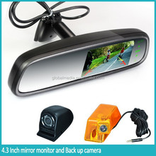 Ultral-high brightness car rear view backup camera mirror with Bluetooth handfree car kit,multi optional functions,radar dtector
