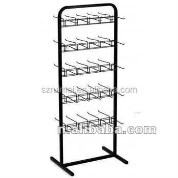 customized floor standing 5 tier metal pegboard hooks display rack - Pegboard Hooks