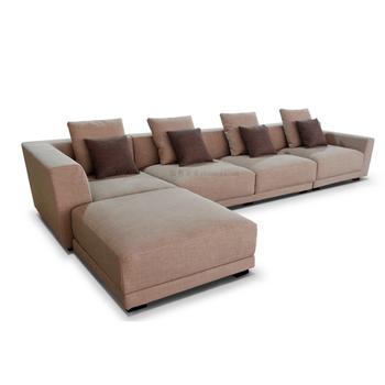 Fabric L Shaped Sofa Corner Living Room Modular Furniture Design