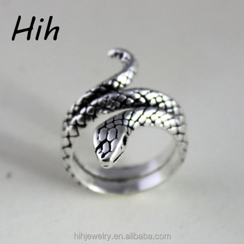 Wholesale Animal Head Jewelry Adjustable Snake Finger Ring