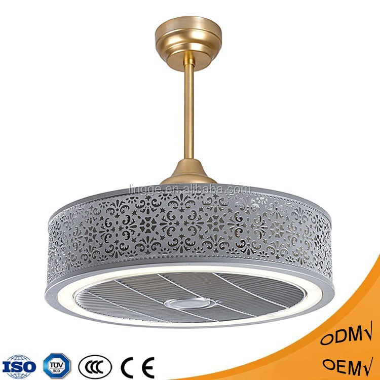Beautiful Large Ceiling Fan: Attactive Beautiful Remote Control Ceiling Fan With Light