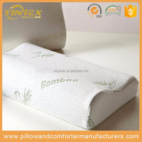 2 Pack Queen Size Bamboo Pillows with Memory Foam and Removable Cover - Hypoallergenic