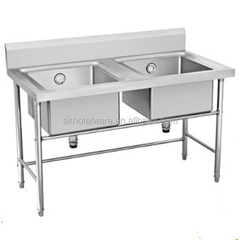 Double 201 Commercial Kitchen Equipment Hand Washing Working Table/304  Kitchen Stainless Steel Wash Table Sink Bench Work Table - Buy Double Bowl  Hand ...