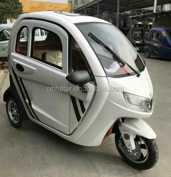 Adult 3 Wheel Electric Trike Closed Type Electric Tricycle