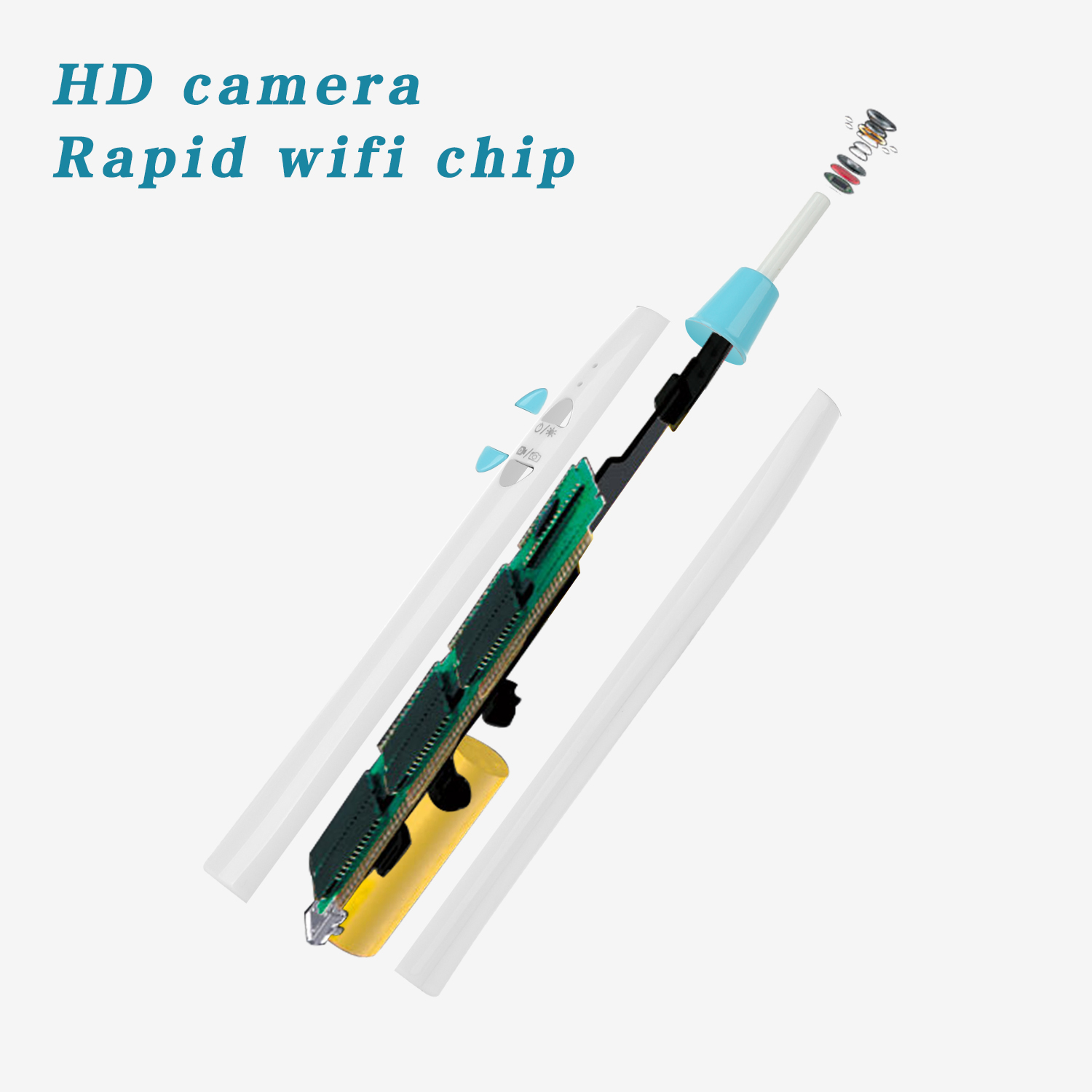Hot Selling Mini 3.9mm Electronic Otoscope WiFi Ear Camera Endoscope